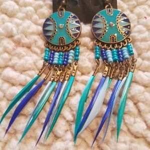 Jewelry - Navajo ~ Crystal Accent Beaded Earrings